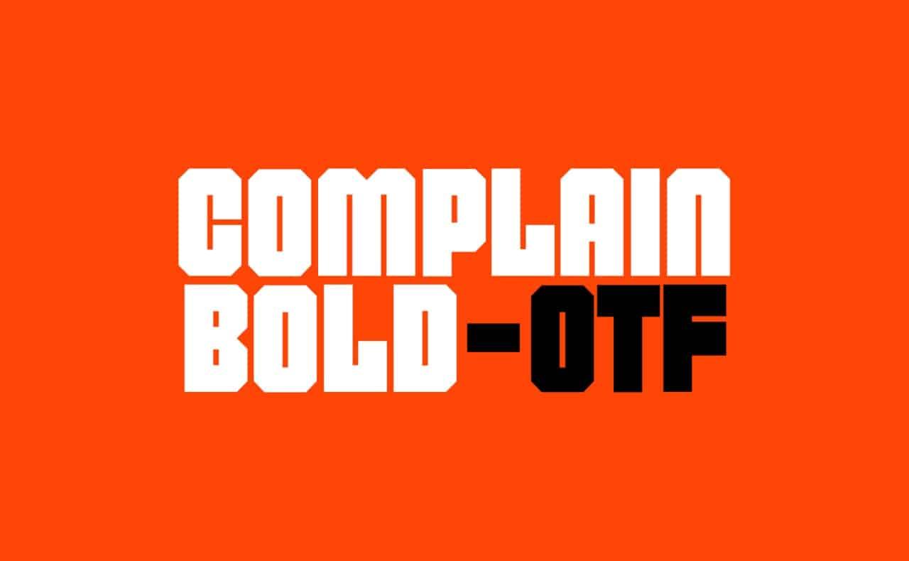 Download Complain Bold font (typeface)